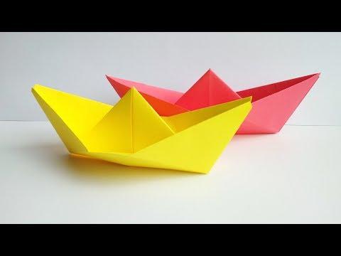 Оригами лодка. Как сделать кораблик из бумаги своими руками. Поделки.