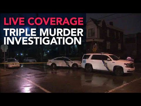 Triple Murder in Philadelphia Home | LIVE Police News Conference