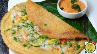 Mix Veg Multi Dal Adai Cheese Dosa - By Vahchef @ Vahrehvah.com