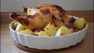 دجاج مشوي في الفرن مع تتبيلة العسل -مطبخي الصغير