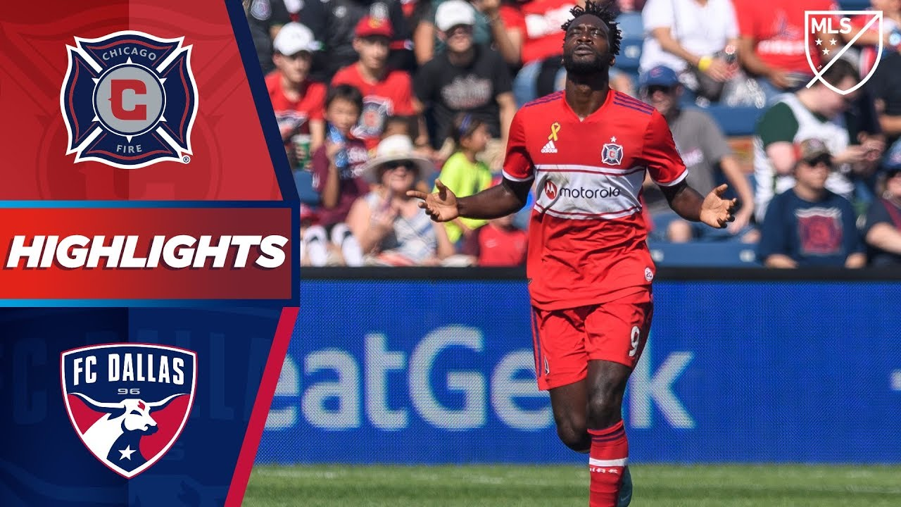 Chicago Fire 4 0 Fc Dallas Two For Cj Sapong Highlights Youtube