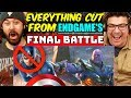 EVERYTHING CUT From ENDGAME'S FINAL BATTLE - REACTION!!!