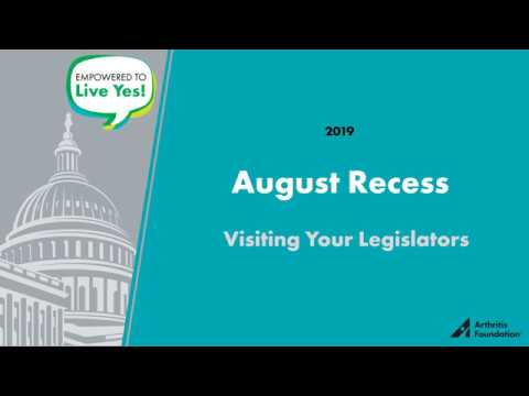 August Recess Training Video