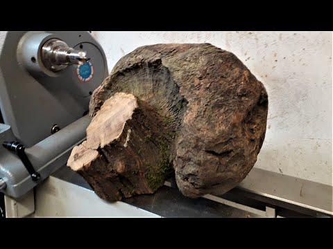 Woodturning - Oak Mushroom Burl to Bowl