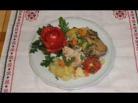 Рагу овощное с курицей/Рецепт диетического блюда с подсчётом калорийности