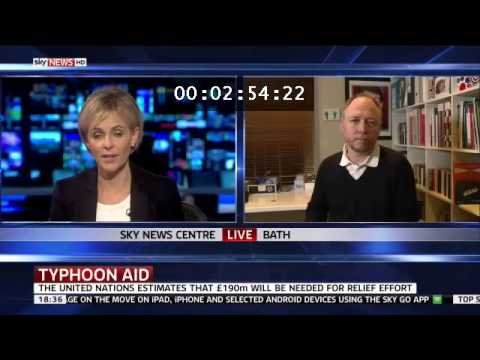 Sky News - Aid response to Typhoon Haiyan