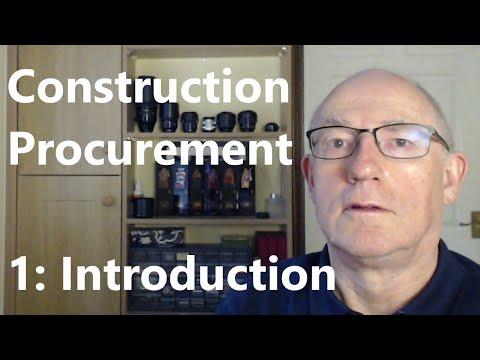 Construction Procurement #01: Introduction