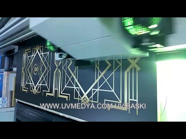 Kapı Üzerine Uv Baskı Çalışması- UV MEDYA