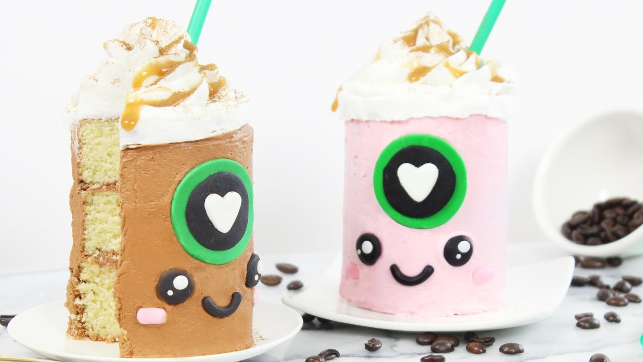 How to Make Mini Starbucks Cakes YouTube