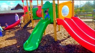 Playground Fun for Kids with Slides