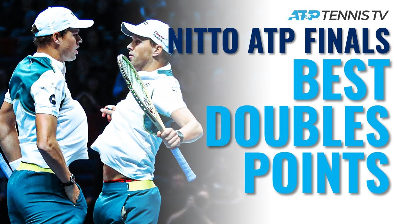 Best Tennis Doubles Points From ATP Finals in London!