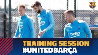 Back to work to prepare the Champions League match against Manchester United