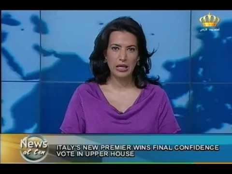 English News at ten in Jordan Television 30-04-2013