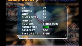 high heat baseball 2001 ps1 gameplay cardinals at phillies