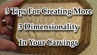 Power Relief Carving - High-Speed Engraving - Carving Demo - Creating A More 3 Dimensional Carving