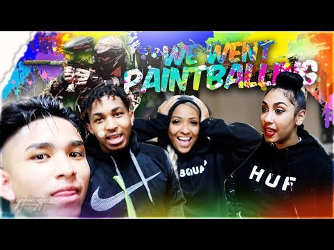 PAINTBALLING WITH YOUTUBERS ! Ft. Queen Naija, Ddg, ClarenceNyc, Flight, Mcqueen and more ! thumbnail