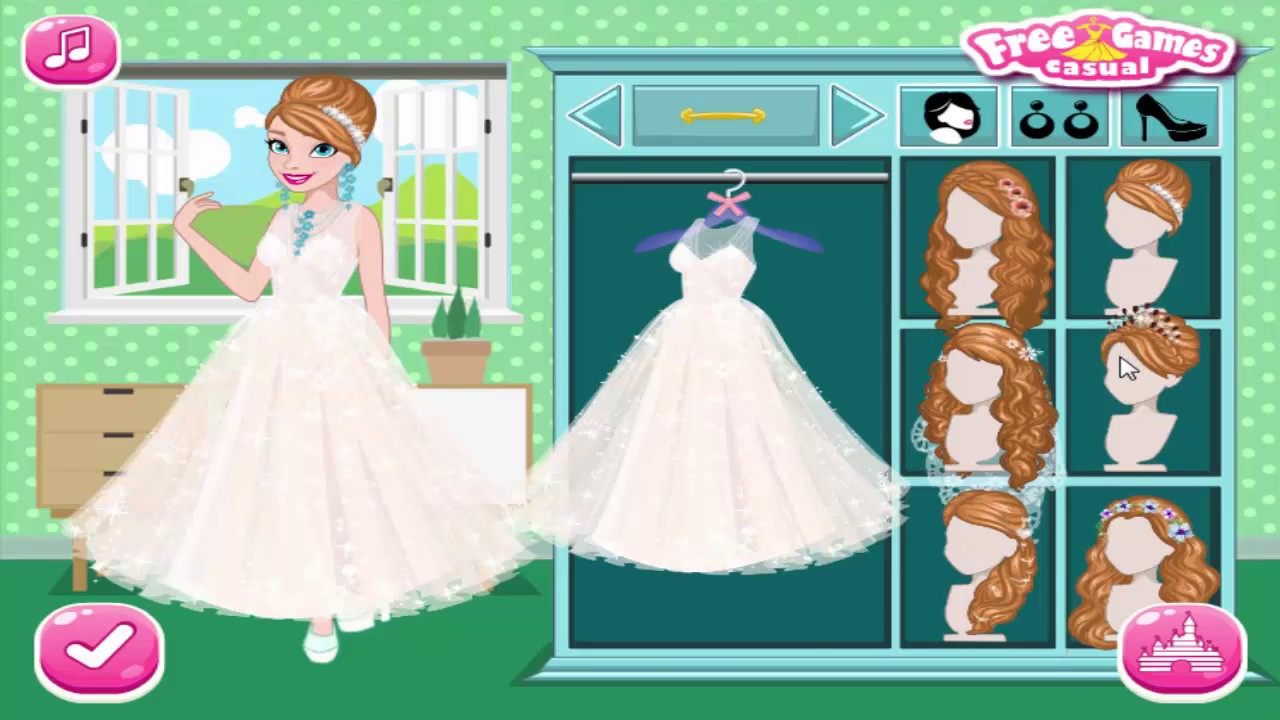Frozen Elsa and Anna Wedding Party and Anna dress up Mermaid - YouTube
