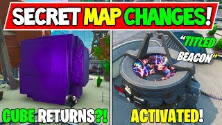 "*NEW* FORTNITE SECRET MAP CHANGES ""Rift Becon Activated!"" + ""Cube Returning?!"" - Season 10 Storyline"