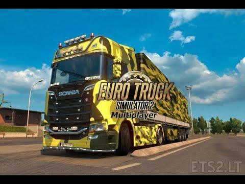Euro Truck Simulator 2 Multiplayer - Entrega de carga de Berlim para Hanôver (Alemanha)
