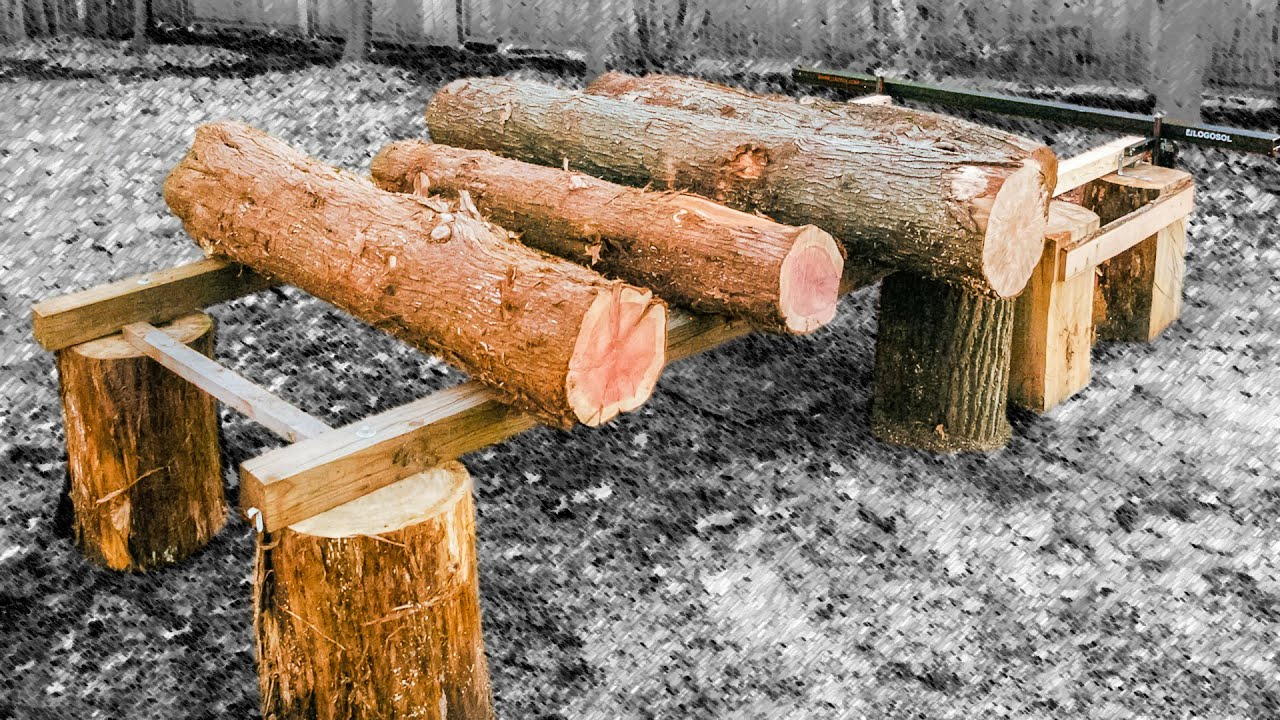 chainsaw mill log table funnydog tv