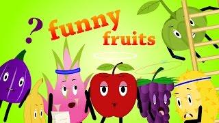 Lernen A-H, lustige Obst-Animation
