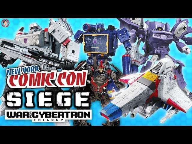 Transformers: SIEGE WFC Decepticon Toyline Shockwave, Megatron, Starscream - NYCC 2018 #1