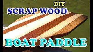 DIY Canoe Paddle from Scrap Wood