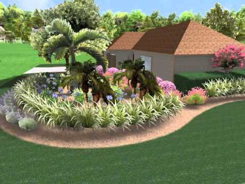 Florida Landscape design front yard corner lot butterfly wildlife ...