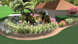 Gambar cover Florida Landscape design front yard corner lot butterfly wildlife