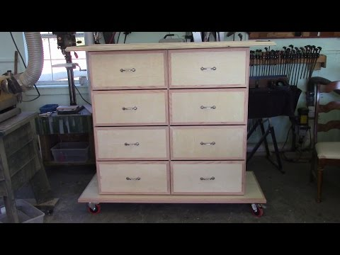 42 Finishing the Large Eight Drawer movable Storage Cabinet