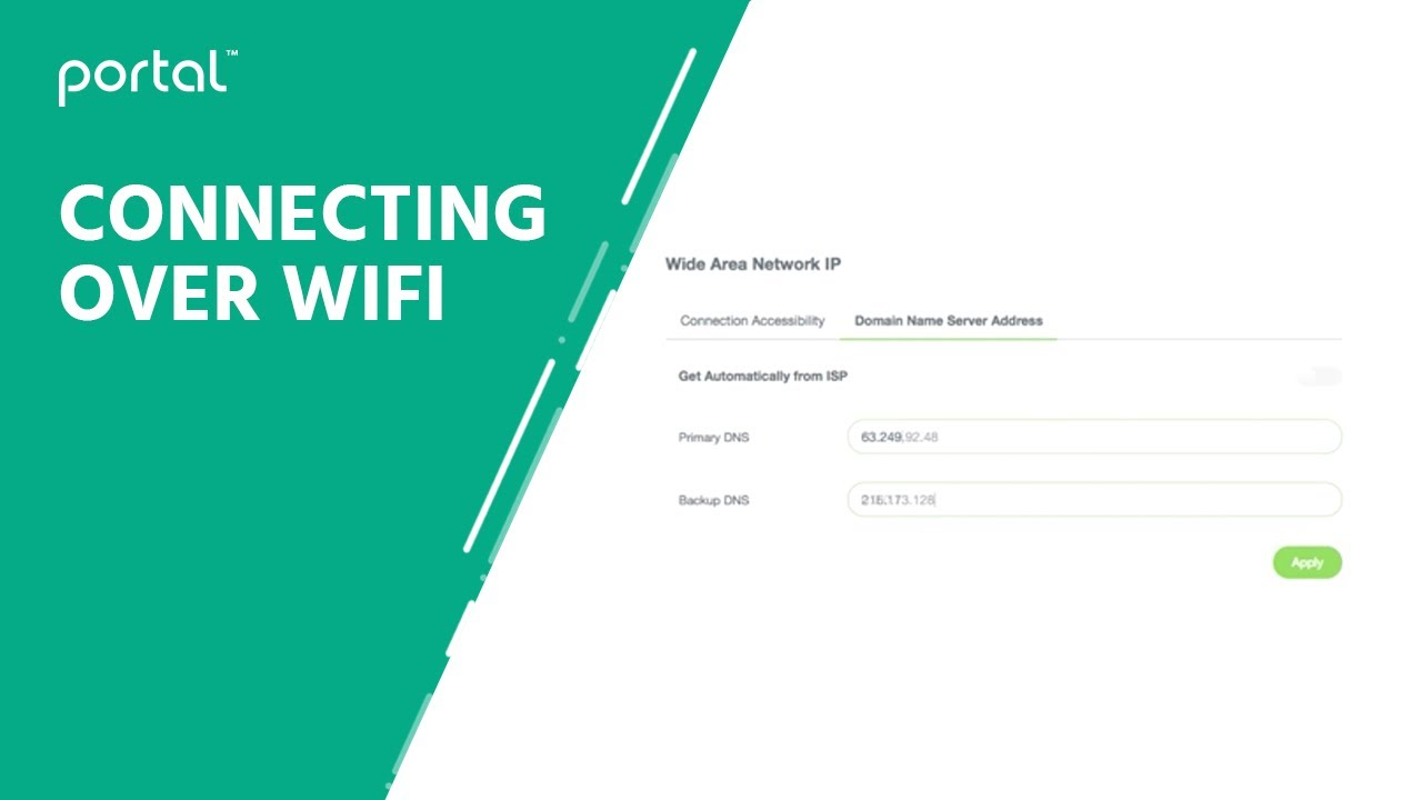 How to connect to the Portal web interface through WiFi