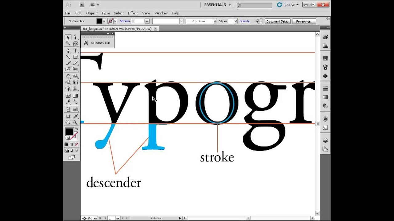 Indesign Tutorial ( Letterform anatomy) 4 - YouTube