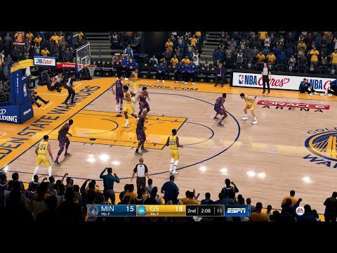 NBA LIVE 19 - Minnesota Timberwolves vs Golden State Warriors - CPU SIM Full Game PS4 PRO - HD