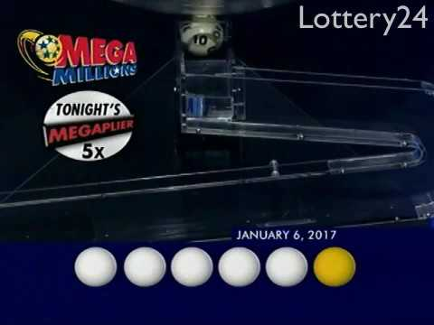 2017 01 06 Mega Millions Numbers and draw results