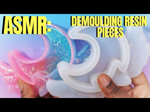 ASMR: DEMOLDING RESIN PIECES #ASMR #DemoldingResinPieces #SophieAndToffee #TheElvesBox