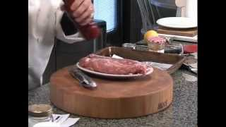 The Easy Gourmet Episode 2 - Port Tenderloin(with An Apricot Miso Glaze) And  Steak Diane
