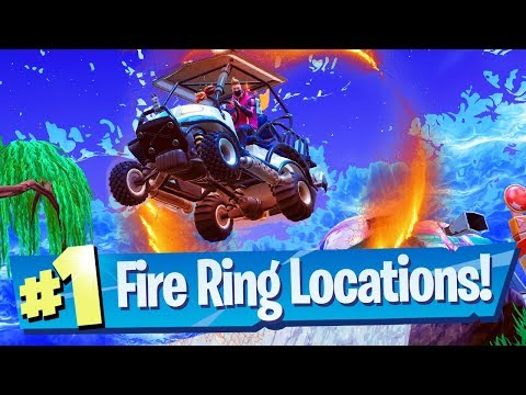 Fortnite Flaming Hoop / Fire Ring Locations (Week 4 Challenge)