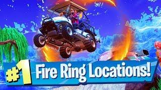 Fortnite Flaming Hoop / Fire Ring Locations (Week 4 Challenge)