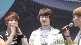 [fancam] 110528 SHINee Minho - talking @ Walking Festival