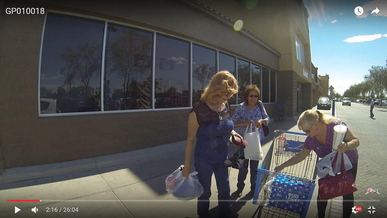 Three Women And A Basket Case, Walmart, Casa Grande, Arizona, Bud Light  GP010018