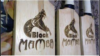 CB -BLACK Mamba   Engraved CRICKET BAT Review   Srilankan wood Tennis ball bat