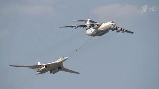 В Саратовской области стратегические бомбардировщики успешно осуществили оперативный массовый взлет.