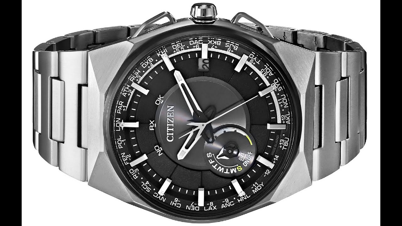 f10f9e3efbd Citizen Men s Eco Drive Satellite Wave F100 Titanium GPS Watch - YouTube