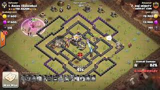 Clash of Clans.Aarkay clan Vs TRI AGAIN live war attacks