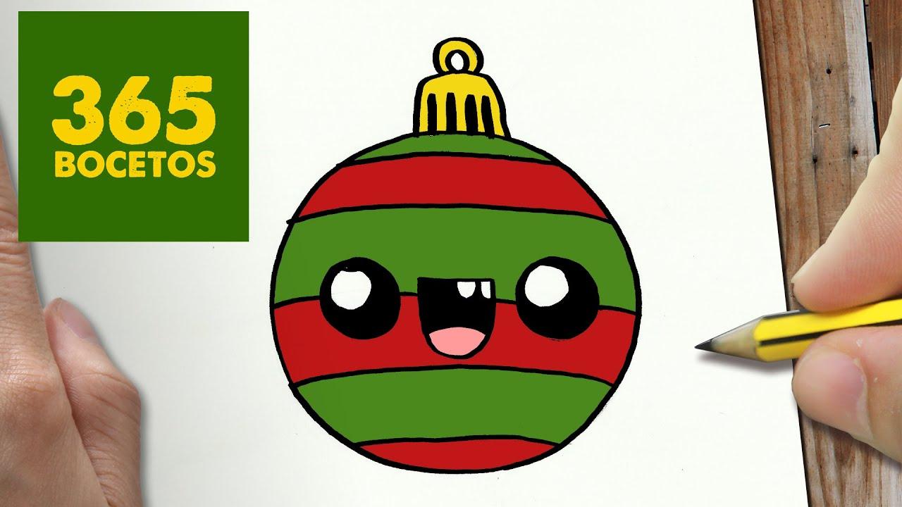 Como dibujar una bola para navidad paso a paso dibujos for Dibujos de navidad bolas