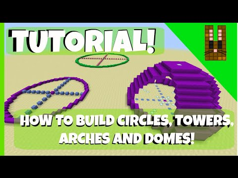 RabbitRoars: Minecraft Tutorial: How to build Circles, Towers, Arches and Domes!