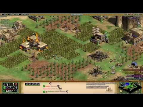 Aoe2 HD: Free-For-All 4-Way Co-Op Budapest (Indians) (Part 1/3)