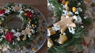 Салат Оливье( Russian Salad Recipe) Меню на новый год