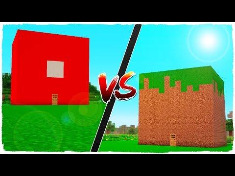 ? MINECRAFT - CASA DE ROBLOX VS CASA DE MINECRAFT thumbnail