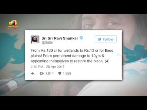 Sri Ravi Shankar TWEETS  Blaming The Green Panel Centre | Yamuna Floodplains | Mango News